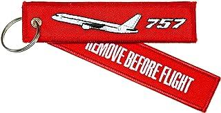 Schlüsselanhänger 'REMOVE BEFORE FLIGHT'    BOEING 757    inkl. Schlüsselring