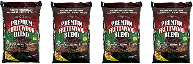 Green Mountain Premium Fruitwood Pure Hardwood Grilling Cooking Pellets (4 Pack)