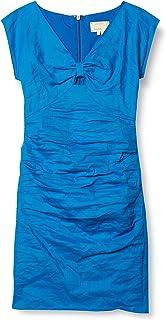 Nicole Miller Women's Cotton Metal Bow V Neck Dress