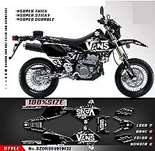 Kungfu Graphics Custom Decal Kit for Suzuki DRZ400 SM DRZ400SM Supermoto 1999 2000 2001 2002 2003 2004 2005 2006 2007 2008 2009 2010 2011 2012 2013 2014 2015 2016 2017 2018 2019, Black White