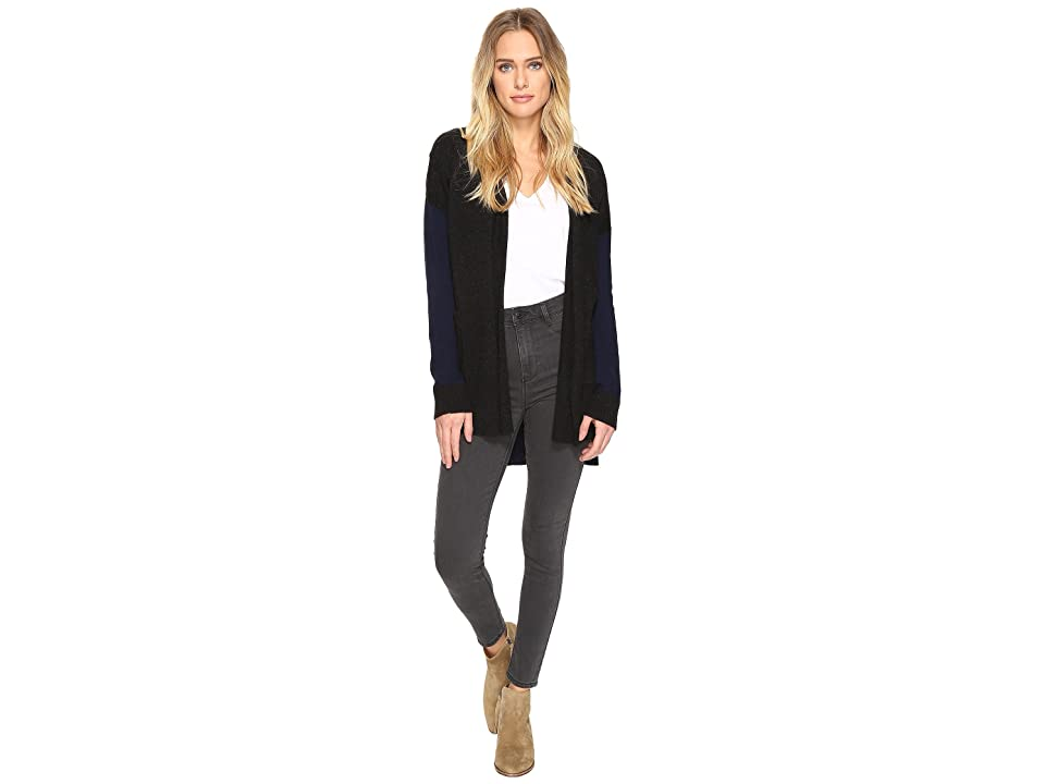 Three Dots Mixed Cardigan (Black) Women