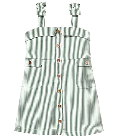 Janie and Jack Linen Dress (Toddler/Little Kids/Big Kids) (Green) Girl