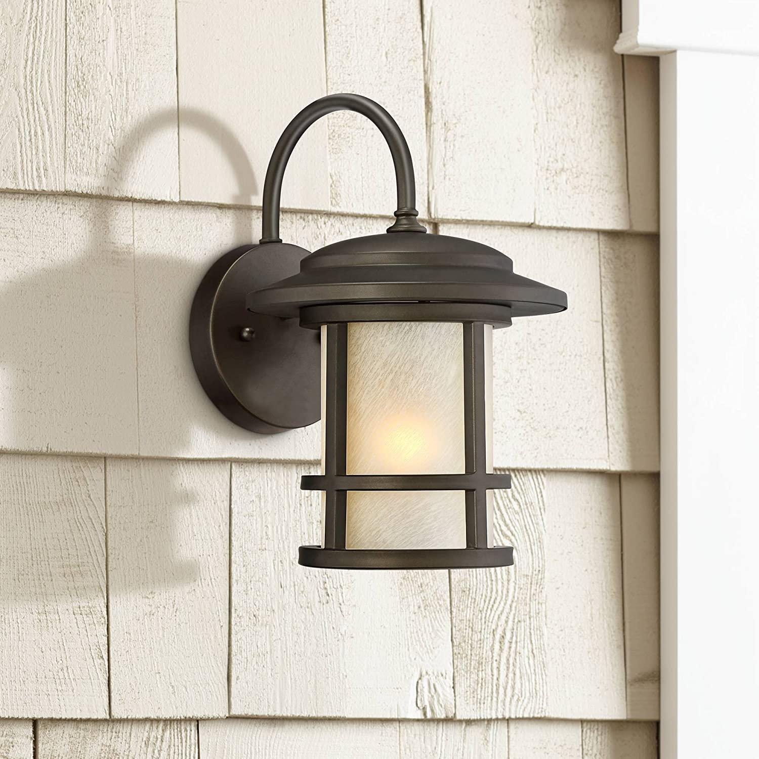 Special price Cressona Mission Outdoor Wall Light Oil Dark Rubbed Bron Fixture Attention brand