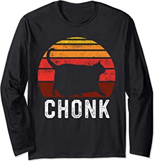 Funny Fat Cats Meme, Chonk Cat Long Sleeve T-Shirt