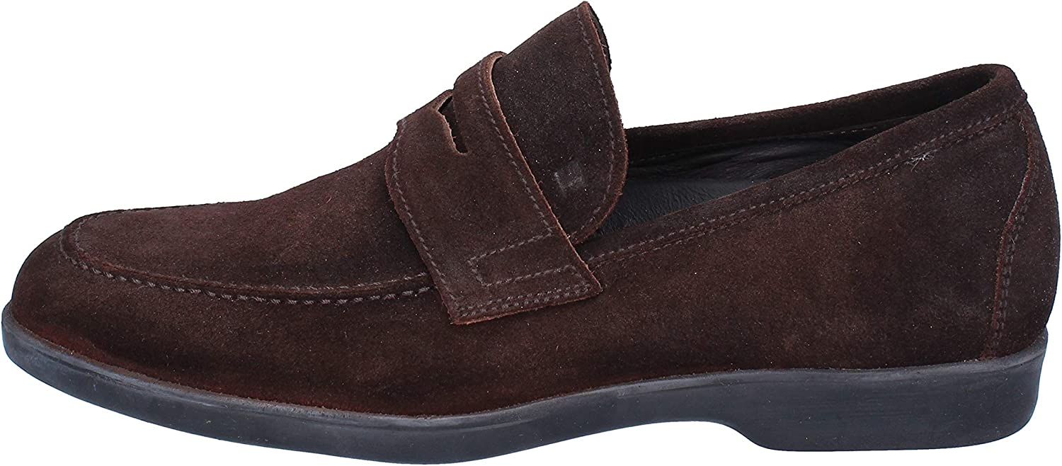 FRATELLI ROSSETTI Loafers-shoes Mens Suede Brown
