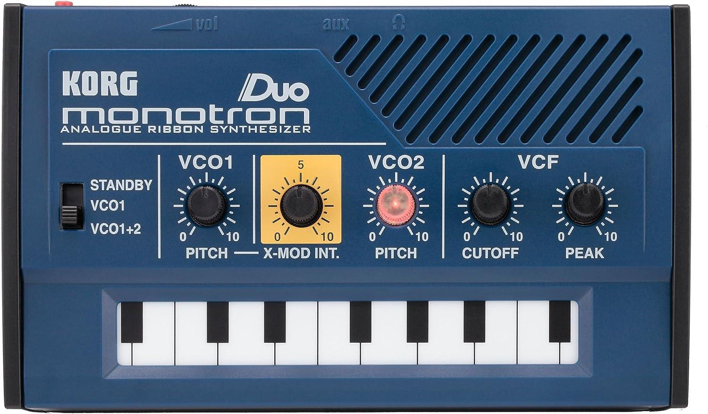 Korg Monotron Duo - Sintetizador (analógico, oscilador dual, con altavoz integrado)