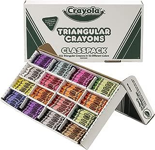 Crayola BIN528039 Triangular Crayon Classpack, 16 Colors, 256 Count