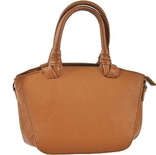 Chicca Tutto Moda CTM Pochette a mano da donna, borsetta in vera pelle made in Italy con tracolla 24x18x14 Cm