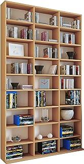 VCM Megosa Maxi sammelregal estantería Biblioteca Almacenamiento, Madera, Haya, 182,8x 102x 23cm