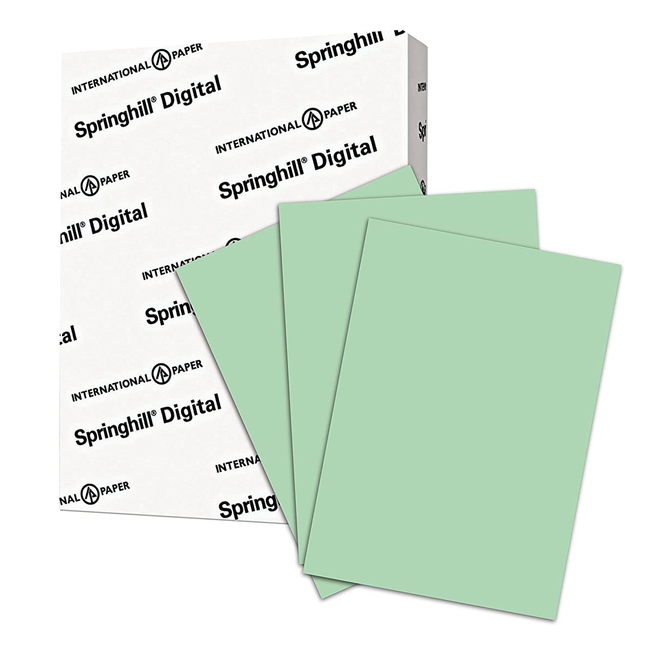 Springhill Colored Paper, Heavy Paper, Green Paper, 24/60lb, 89gsm, Legal, 8.5 x 14, 1 Ream / 500 Sheets - Opaque, Thick Paper (024225R)