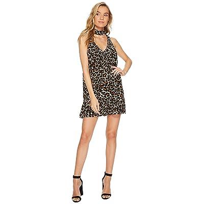 Show Me Your Mumu Friday Choker Dress (Cheetah Club Pebble) Women