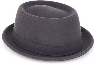 Kangol Men's Lite Felt Porkpie Hat, Dark Grey