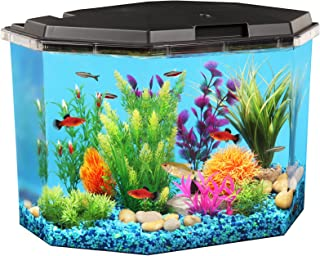 Koller Products 6.5-Gallon Aquarium Kit with Power Filter and LED Lighting, (AP650)