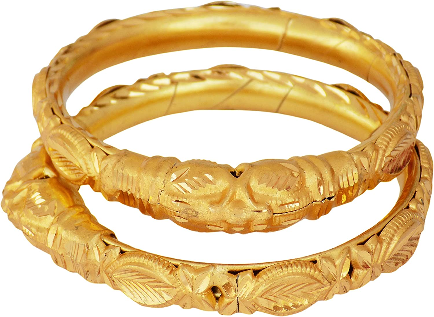 JD'Z COLLECTION Indian Gold Plated Bangles