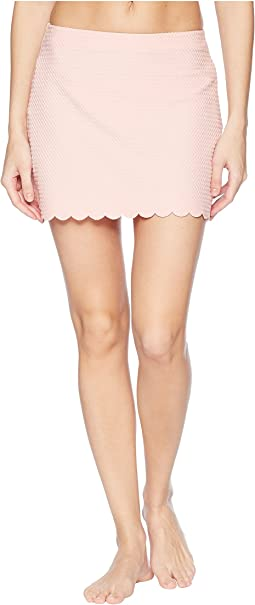 Kate Spade New York - Marina Piccola Textured Scallop Pull-On Skirt Cover-Up
