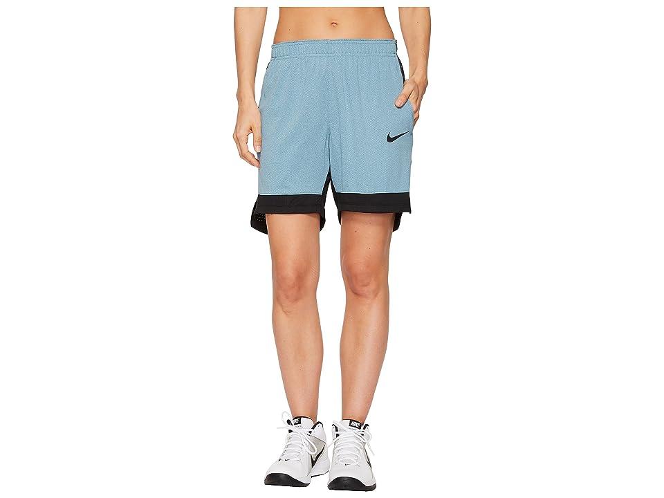 Nike Dry Elite Basketball Short (Noise Aqua/Black/Black) Women