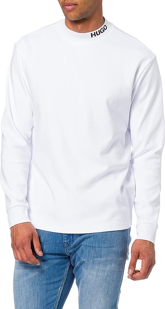 Hugo boss dorrison maglione felpa per uomo collo a u 100% cotone 50454104A