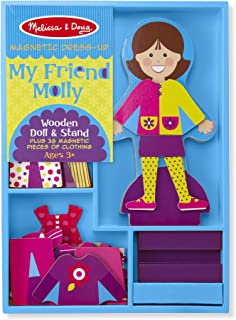 Melissa & Doug My Friend Molly Wooden Dress-Up Doll and Stand With Magnetic Accessories (38 pcs)
