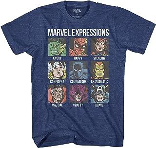Avengers Expression Moods Spider-Man Hulk Thor Iron Man Black Panther Strange America Kids Youth Boys Graphic Tee T-Shirt