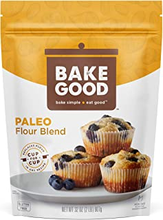 BakeGood Paleo Flour Blend, 2lb, 1-to-1 Replacement for All Purpose Flour, Gluten Free, Non-GMO, Kosher