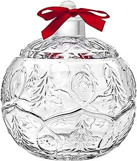 Godinger Holiday Christmas Ornament Chrystal Covered Trinket Holder, Box
