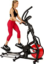 Sunny Health & Fitness Magnetic Elliptical Trainer Machine w/ Tablet Holder, LCD Monitor, 265 Max Weight and Pulse Monitor...