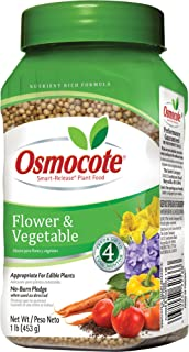 Osmocote 277160 Flower and Vegetable Smart-Release Plant Food, 14-14-14, 1-Pound Bottle