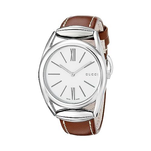 6ff73fdaa1f Gucci Horsebit Swiss Quartz Brown Women s Watch(Model YA140402)