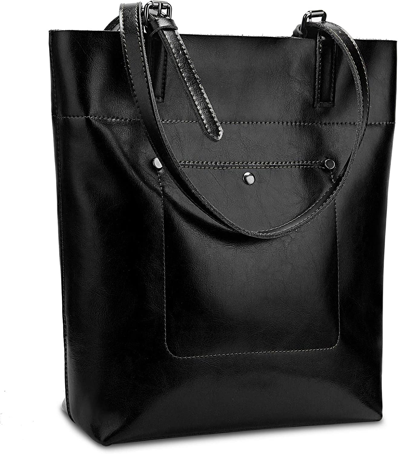 Yaluxe Women's Tote Bag Purse Large Capacity Vintage Style Soft Leather Work Totes Shoulder Bag
