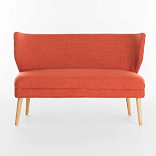 Christopher Knight Home Desdemona Mid-Century Fabric Loveseat, Orange