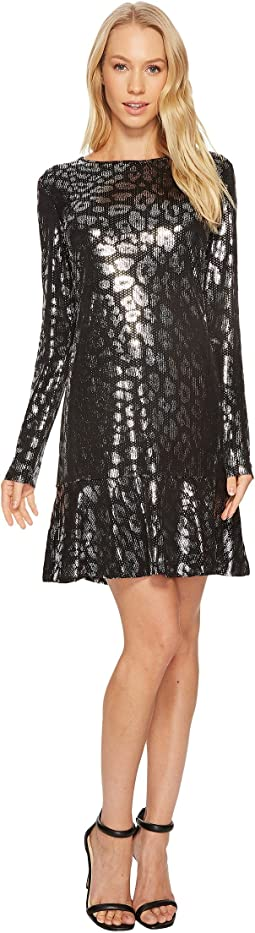 MICHAEL Michael Kors - Leo Foil Flounce Dress