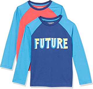 Amazon Essentials Long-Sleeve Raglan Baseball T-Shirts Niños, Pack de 2