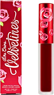 Lime Crime Velvetine Liquid Matte Lipstick, Feelins - Deepest True Red - French Vanilla Scent - Long-Lasting Liquid Metal Matte Lipstick - Won't Bleed or Transfer - Vegan - 0.08 fl oz