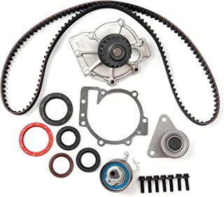 ECCPP Timing Belt Water Pump Kit Fits for 1998-2010 Volvo C70 S40 S60 S70(To Engine Code:3188688)S80 V40 V70 XC70 XC90 1.9L 2.3L 2.4L 2.5L 3.2L To Engine Code:3188688