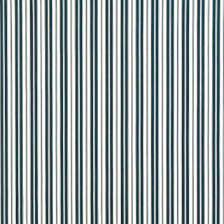 B464 Navy Ticking Striped Indoor Outdoor Marine Scotchgard Upholstery Fabric by The Yard