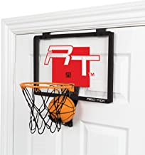 Rec-Tek Deluxe Over The Door Basketball Hoop Game for Kids - Features Built-In Ball Holder, No Tools Required - Complete with All Accessories