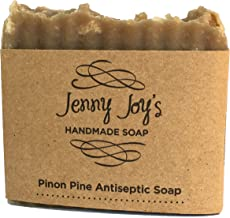 Pine Resin Soap Pinon Wild Harvested for Men & Women Woodsy Scent Skin Scrub, Moisturizes & Soothes Dry Skin, Psoriasis, Bug Bites & Eczema Handmade 5-6 oz. Bar Southwest Healing by Jenny Joy's Soap