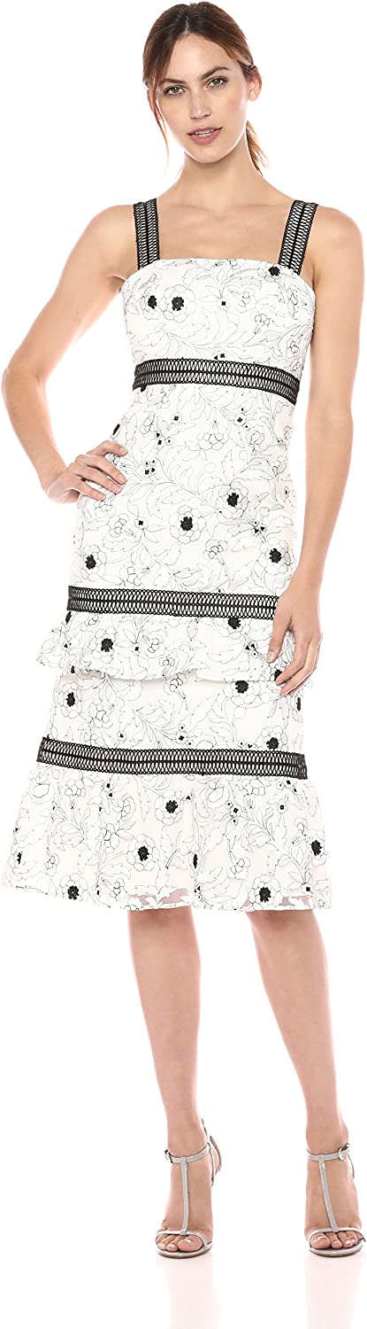 Aidan Mattox Womens Floral Embroidered Cocktail Dress Special Occasion Dress