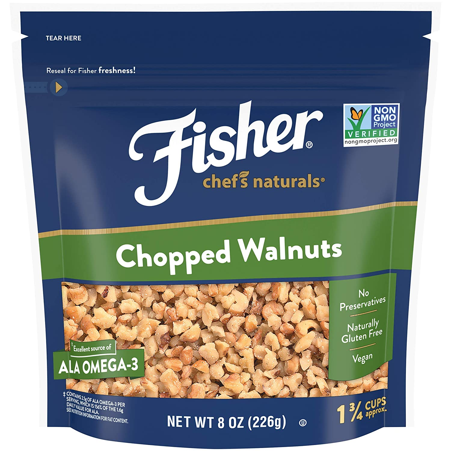 FISHER Chef's Naturals Chopped Walnuts oz Limited Special Price 8 F Naturally Fashionable Gluten