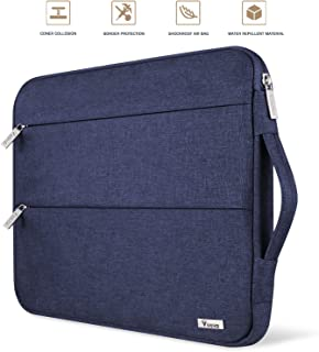 """Voova 13 13.3 Inch Laptop Sleeve Case Compatible with MacBook Air 13.3"""", MacBook Pro (Retina) 13"""", Surface Book 2 / Laptop 13.5"""" Notebook Computer Waterproof Protective Bag Cover with Handle, Blue"""