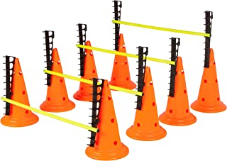 Trademark Innovations Adjustable Hurdle Cone Set - 8 Cones and 4 Poles - by Trademark Innovations HURDCONE-ADJ-4X