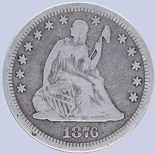 1876 CC Seated Liberty Quarter 25C Very Fine