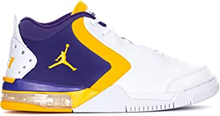 Jordan BV6273-105: Men's White/University Gold-Court Purple Big Fund Sneakers