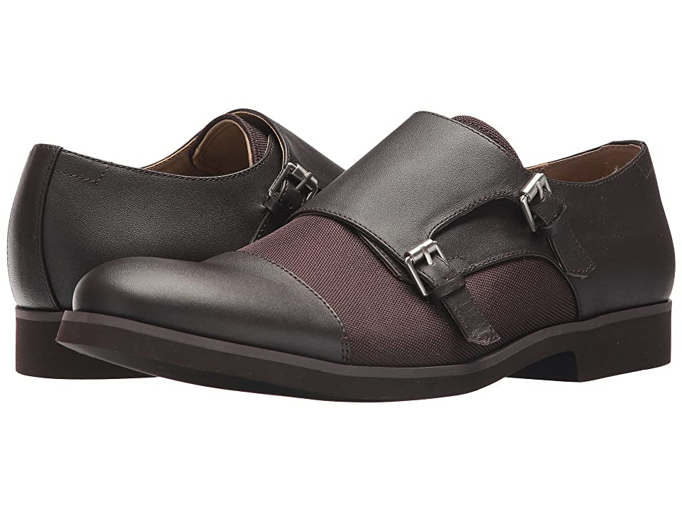 Calvin Klein Finch (Dark Brown Nappa/Ballistic Nylon) Men