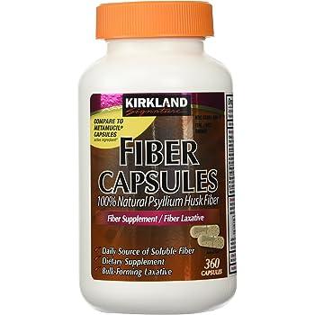 Amazon Com Kirkland Signature Kirkland Fiber Capsules 2 Pack 360 Capsules Each Health Personal Care