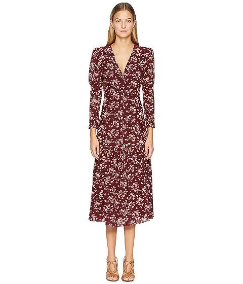 Rebecca Taylor Long Sleeve Tilda V-Neck Dress