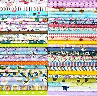 "Misscrafts 50pcs 8"" x 8"" (20cm x 20cm) Top Cotton Craft Fabric Bundle Squares Patchwork DIY Sewing Scrapbooking Quilting D..."