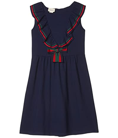 Gucci Kids Cotton Piquet with Bow Dress (Little Kids/Big Kids)