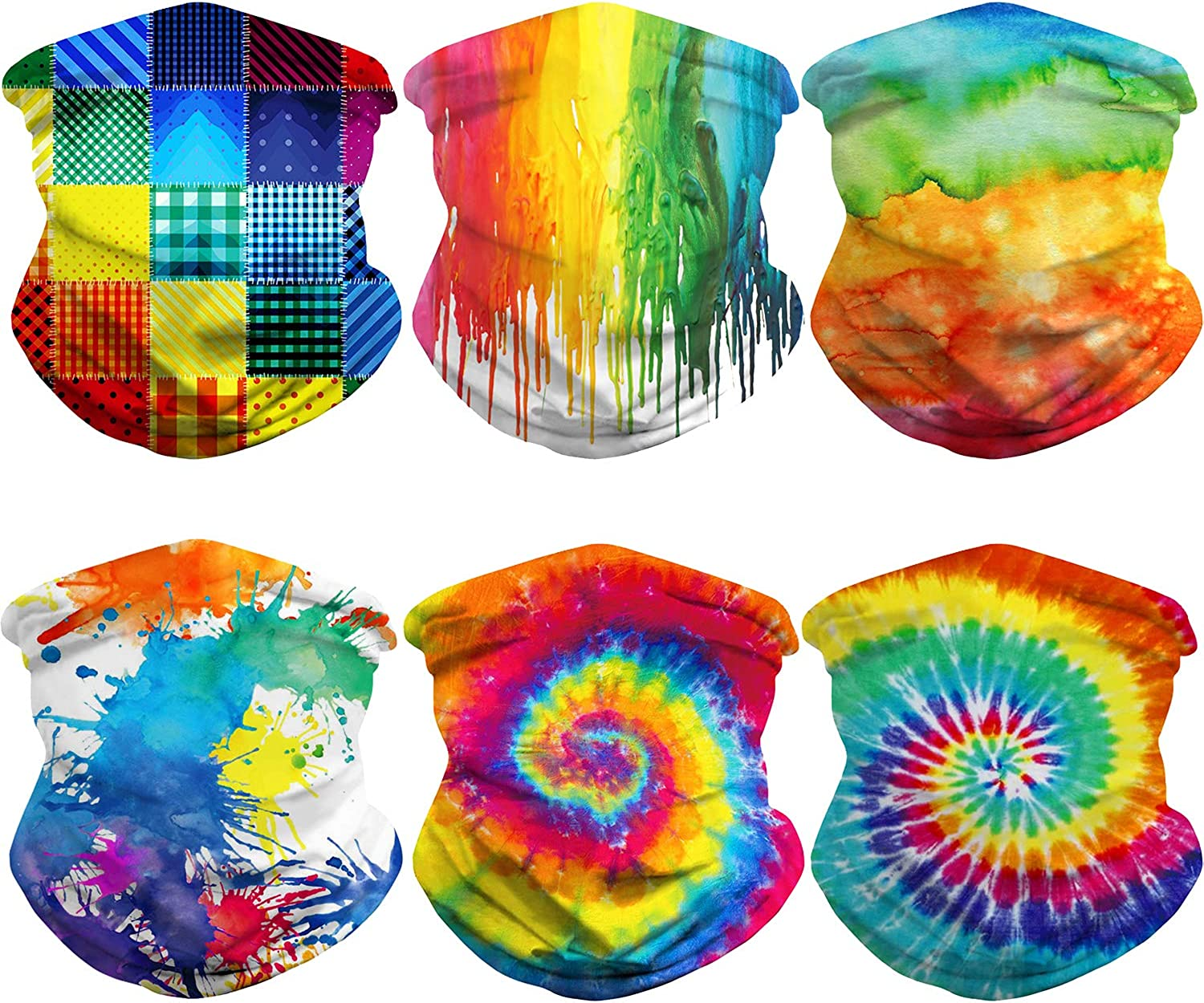 6 Pieces Hippie Bandana gift OFFicial mail order Face Seamless Scarf Neck Gaiter