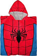 Jay Franco Marvel Super Hero Adventures Spidey Kids Bath/Pool/Beach Hooded Poncho Featuring Spiderman - Super Soft & Absorbent Cotton Towel, Measures 22 Inch x 22 Inch (Official Marvel Product)